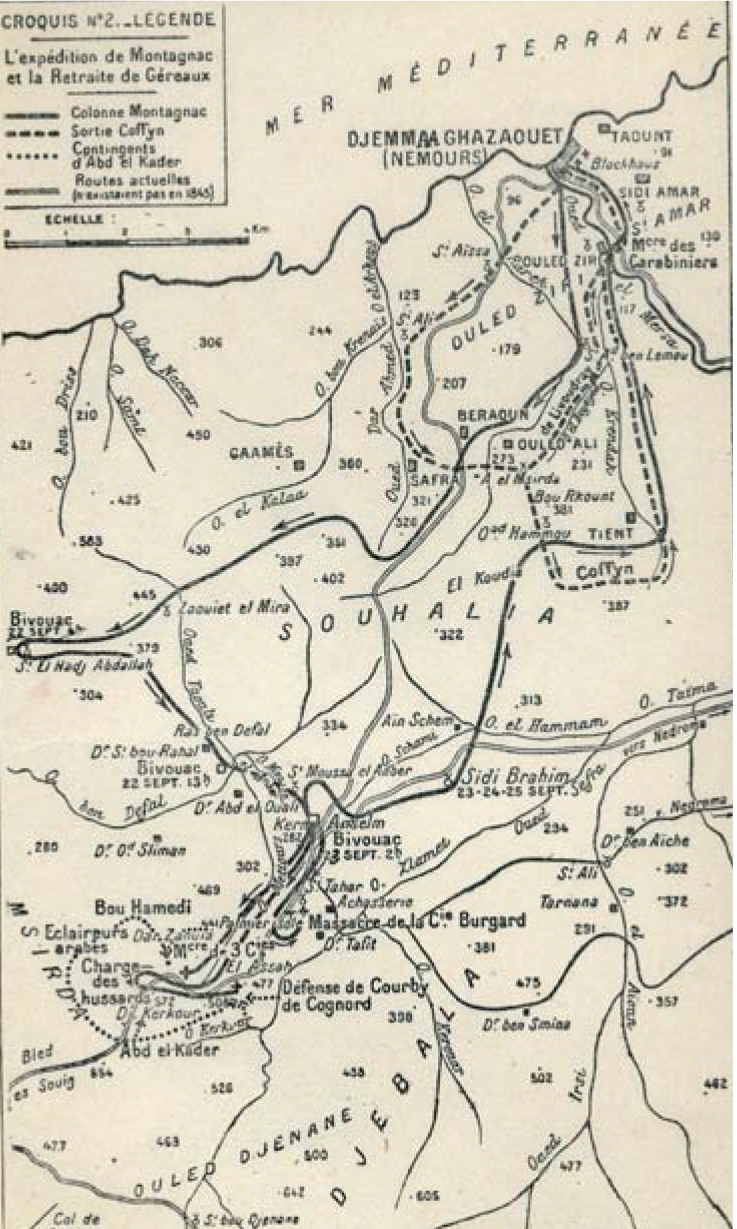 Carte de la colonne Montagnac
