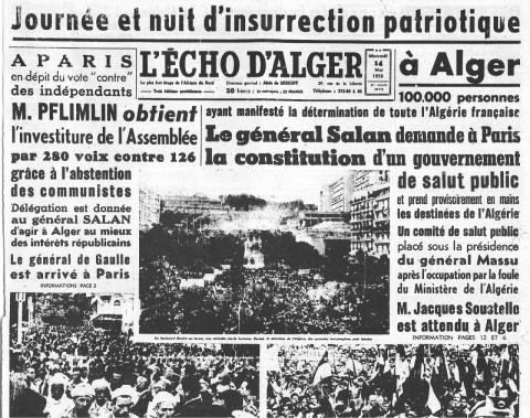 13 mai 1958 à Alger